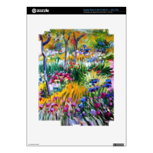 Claude Monet: Iris Garden by Giverny Decals For iPad 3