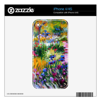 Claude Monet: Iris Garden by Giverny Skin For iPhone 4S