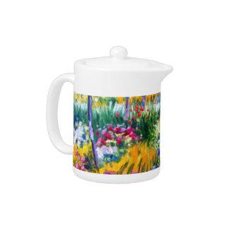 Claude Monet: Iris Garden by Giverny Teapot