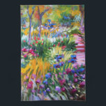 """Claude Monet: Iris Garden by Giverny Towel<br><div class=""""desc"""">Another beautiful classic summer kitchen towel,  painted by the French impressionist painter Claude Monet.</div>"""