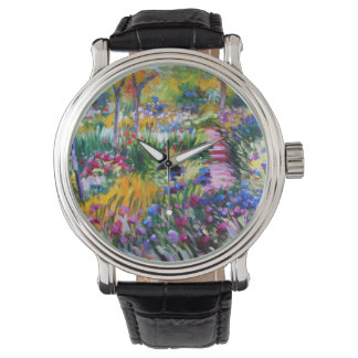 Claude Monet: Iris Garden by Giverny Wrist Watches