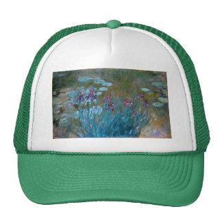 Claude Monet: Iris y lirios de agua Gorras De Camionero