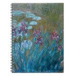 Claude Monet: Iris y lirios de agua Libros De Apuntes Con Espiral