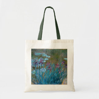 Claude Monet: Irises and Water Lilies Tote Bag