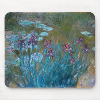 Claude Monet: Irises and Water Lilies Mouse Pad