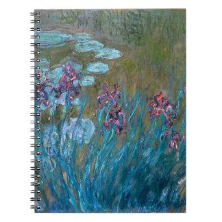 Claude Monet: Irises and Water Lilies Spiral Notebooks