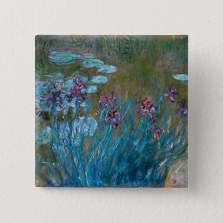Claude Monet: Irises and Water Lilies Pinback Button