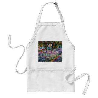 Claude Monet: Irises in Monet's Garden Adult Apron