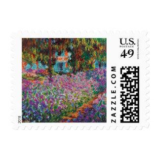 Claude Monet - Irises in Monet's Garden Fine Art Postage