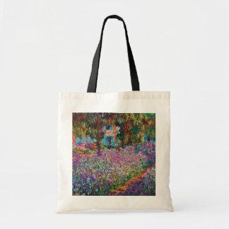 Claude Monet - Irises in Monet's Garden Fine Art Tote Bag