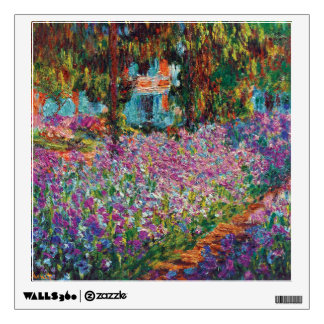 Claude Monet - Irises in Monet's Garden Fine Art Wall Sticker