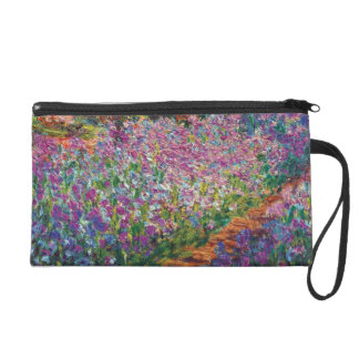 Claude Monet - Irises in Monet's Garden Fine Art Wristlet Purse