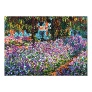 Claude Monet: Irises in Monet's Garden 5x7 Paper Invitation Card