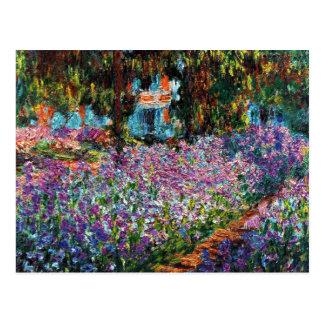 Claude Monet: Irises in Monet's Garden Postcard