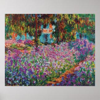 Claude Monet - Irises in Monet's Garden Poster