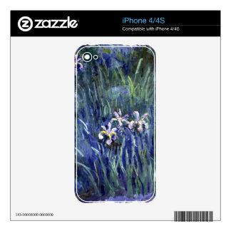 Claude Monet: Irises Skins For The iPhone 4S