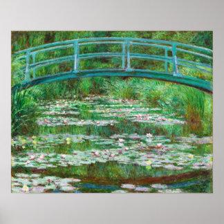 Claude Monet: Japanese Footbridge Poster