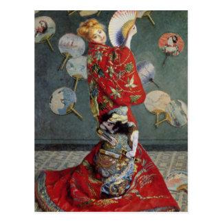 Claude Monet Japanese Kimono Postcard