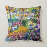 Claude Monet: Jardín del iris por Giverny Almohada
