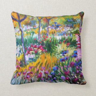 Claude Monet: Jardín del iris por Giverny Almohadas
