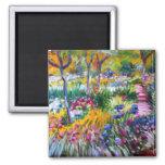 Claude Monet: Jardín del iris por Giverny Imán Cuadrado