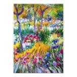 Claude Monet: Jardín del iris por Giverny Invitación 12,7 X 17,8 Cm