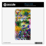 Claude Monet: Jardín del iris por Giverny iPhone 4 Skins