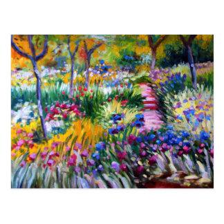 Claude Monet: Jardín del iris por Giverny Tarjetas Postales