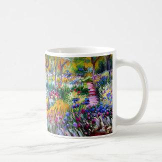 Claude Monet Jardín del iris por Giverny Taza