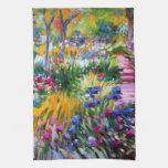 Claude Monet: Jardín del iris por Giverny Toallas