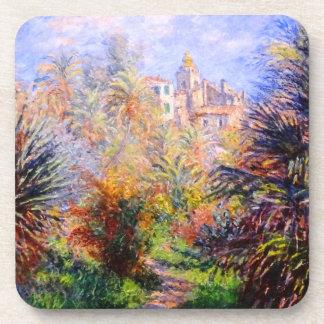 Claude Monet: Jardines del chalet Moreno Bordighe Posavasos De Bebidas