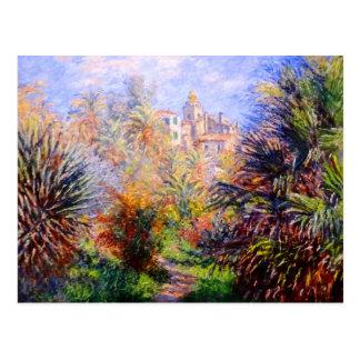 Claude Monet: Jardines del chalet Moreno Bordighe Postal