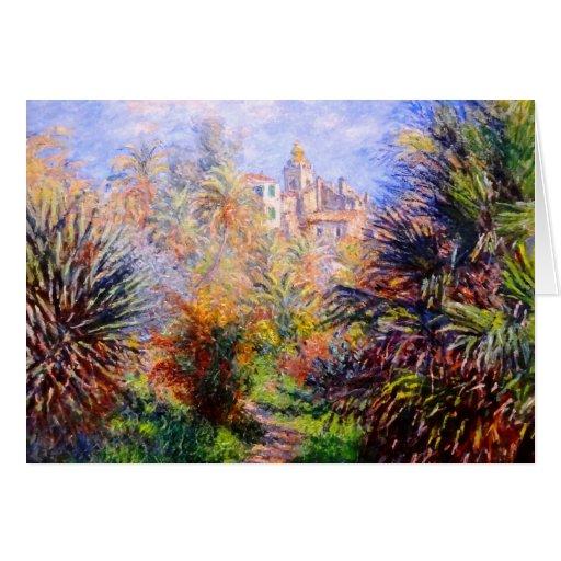 Claude Monet: Jardines del chalet Moreno Bordighe Tarjetas