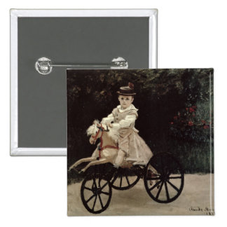 Claude Monet | Jean Monet on his Hobby Horse, 1872 Button