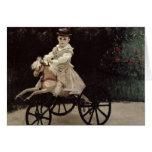 Claude Monet | Jean Monet on his Hobby Horse, 1872 Card
