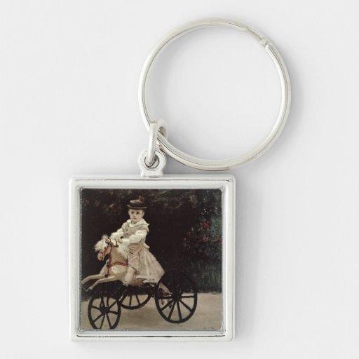 Claude Monet | Jean Monet on his Hobby Horse, 1872 Keychain