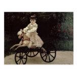 Claude Monet | Jean Monet on his Hobby Horse, 1872 Postcard