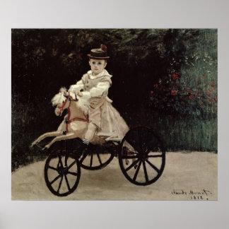 Claude Monet   Jean Monet on his Hobby Horse, 1872 Poster