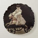 Claude Monet | Jean Monet on his Hobby Horse, 1872 Round Pillow