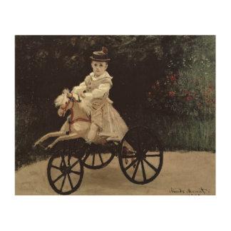 Claude Monet   Jean Monet on his Hobby Horse, 1872 Wood Print