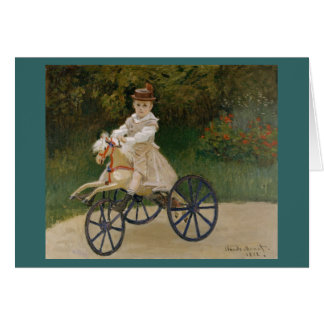 Claude Monet - Jean Monet on his Hobby Horse Card