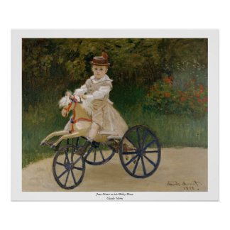 Claude Monet - Jean Monet on his Hobby Horse Poster