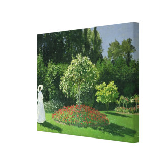Claude Monet | Jeanne Marie Lecadre in the Garden Canvas Print