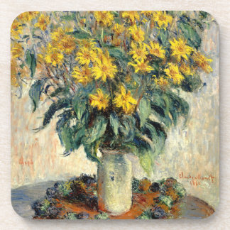 Claude Monet Jerusalem Artichoke Flowers 1880 Coaster