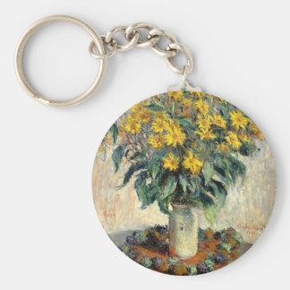 Claude Monet Jerusalem Artichoke Flowers 1880 Keychain