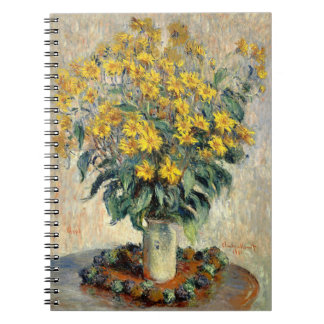 Claude Monet Jerusalem Artichoke Flowers 1880 Notebook