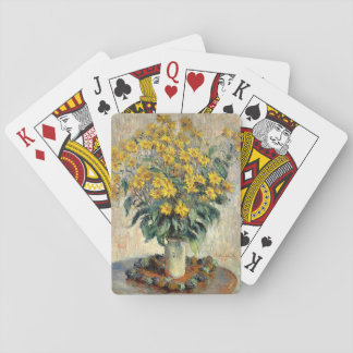 Claude Monet Jerusalem Artichoke Flowers 1880 Playing Cards