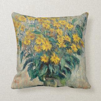 Claude Monet Jerusalem Artichoke Flowers Pillow