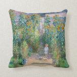 Claude Monet la almohada de la pintura del jardín