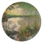 Claude Monet: La charca en Montgeron Plato De Cena